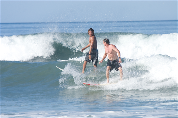Surfing with Friends in Nosara